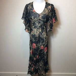 Anthropologie Girls from savoy silk dress 4
